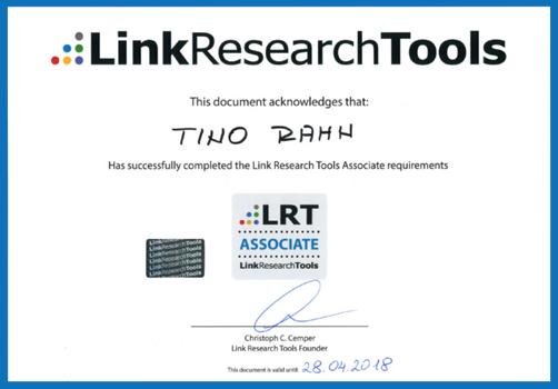 Tino Rahn | LRT Associate Certificate